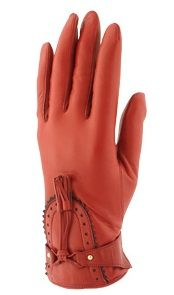 "Piumelli - Red leather gloves ""English"" http://www.piumelligloves.com/default.asp?IDPRO=11"