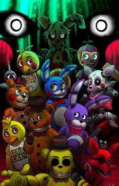 Fnaf fanart n.n i looove that game! i can't wait for the fourth one! hope you like it! Five Nights at Freddy's Five Nights At Freddy's, Good Horror Games, Scary Games, Digimon, Minecraft Banner Designs, Fnaf Wallpapers, Freddy 's, Fnaf Sister Location, Fnaf 1