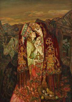 Kumleniye (a ritual of sisterhood for a year) - oil, canvas http://www.russianfineart.com/catalog/prod.php?productid=24025 Master: Gurenkov Oleg