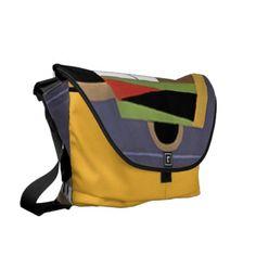 Art Deco Saffron Large Bag by Janz Courier Bag