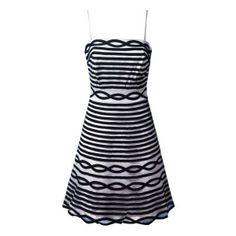 Black Spaghetti Strap Striped Zipper Dress ($100) via Polyvore