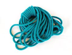 Emerald Braided Rope Cord Semisoft Trim Cord Artificial Silk