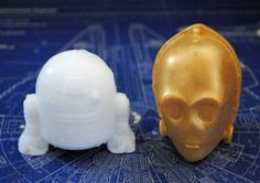 Handmade Droid Soaps  Star Wars R2D2 C3PO Christmas by NerdySoap