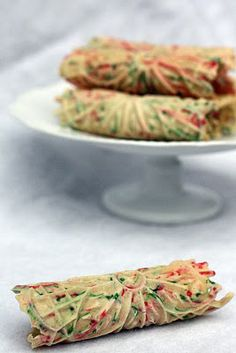 """""""tie-dyed"""" pizzelles"""