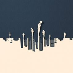 "Illustrations by Eiko Ojala based on the topic of ""climate change"". Many of you may be familiar to the work of Eiko Ojala. The Estonian illustrator Paper Illustration, Graphic Design Illustration, Illustrations, Illustration Editorial, Harvard Business Review, Eiko Ojala, What Would Jesus Do, People In The Us, Behance"