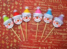 Quilling topper de Cupcake avec Noël bonhomme de par QuillingLife