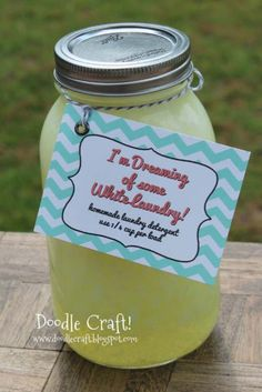 Homemade DIY Gifts in A Jar | Best Mason Jar Cookie Mixes and Recipes, Alcohol Mixers | Fun Gift Ideas for Men, Women, Teens, Kids, Teacher, Mom. Christmas, Holiday, Birthday and Easy Last Minute Gifts | Home Made Laundry Soap Neighbour Gift in a Jar |  http://diyjoy.com/diy-gifts-in-a-jar