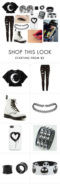 """""""Emo Moon Outfit"""" by abipatterson on Polyvore featuring River Island, Dr. Martens, Anatomy Of and Zero Gravity"""
