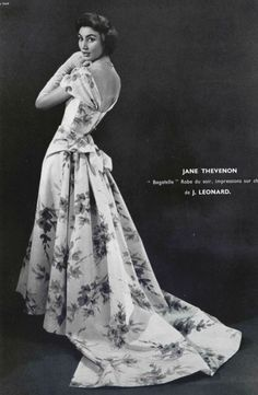 1956 Jane Thevenon dress