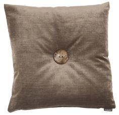Editta - taupe - wooden button