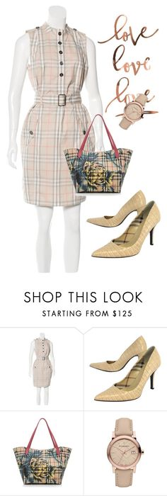 """dress"" by masayuki4499 ❤ liked on Polyvore featuring Burberry"