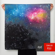 Oh man. Have to make this constellation/galaxy scarf.