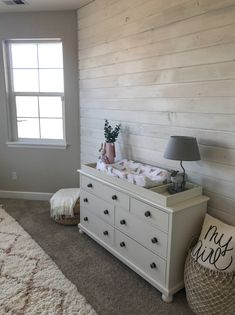 Do It Yourself baby room and baby room decorating! Suggestions for you to produce a little paradise in the world for your little bundle. Lots of baby room decor concepts! Wood Wall Nursery, Nursery Room, Baby Room, Nursery Ideas, Girl Nursery, White Nursery Furniture, Chic Nursery, Bedroom Ideas, Bedroom Decor