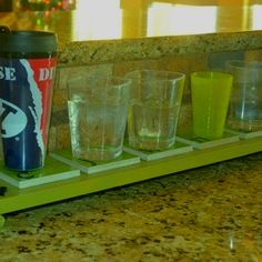 "A coaster for each family member to set their ""daily"" glass on! Love it!"
