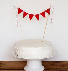 Cake BuntingRed Felt by stephlovesben on Etsy (I want one in every color - cake and bunting.  Ha!