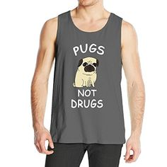 22126b1a6d943 Mens Pugs Not Drugs Cute Gemma Correll Tank Top DeepHeather    For more  information