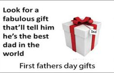 The best first fathers day gifts present thoughts are regularly conventional alternatives: cufflinks, ties, and expertly equipped shirts. Whilst they will be tried and authentic, those staples can still be brilliant gifts. Father's Day Unique Gifts, Cheap Fathers Day Gifts, Gifts For New Dads, Happy Fathers Day, Best Gifts, Good Good Father, Mother And Father, Best Dad, Daughter