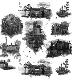 The complete 'Edinburgh Toile' as created by timorous beastie