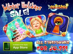 All of our Interactive iPAD Fairy Tale storybooks are now on Sale - 66% OFF - only $0.99.