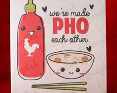 You're the One Pho Me // funny pun valentine love by gotamago