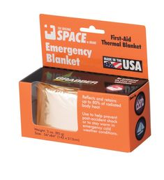 Amazon | Grabber(グラバー) Space Emergncy Blanket OR 22162 | Grabber(グラバー) | ビバークザック・シート