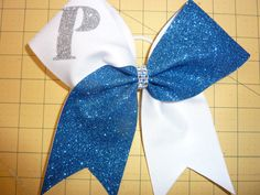 RoYaL 'n White * MAROON & White ~ You Pick Colors ~ Glitter TEAM Cheer Bow ~ School by TheCheerBowBabe on Etsy