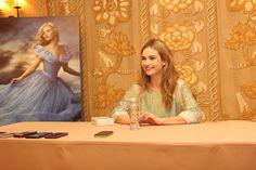 interview Lily James as Cinderella #Cinderellaevent