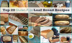 Here are best gluten-free bread recipes---loaf bread---20 recipes! Just gluten free, grain free, paleo, vegan. French bead, rustic bread +. via @shirleygfe