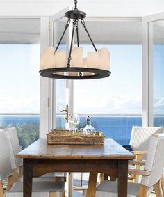 Santana 12 Light Pendant in Black/Opal | Traditional Pendants | Pendant Lights | Lighting