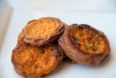 sweet potato rounds... season as you would like...