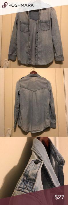 Express denim shirt Express denim shirt Express Tops Button Down Shirts