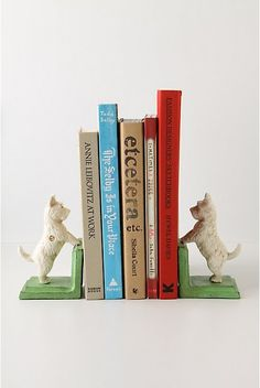 Scotty dog bookends. Love love love..