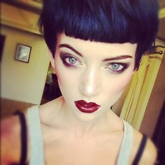 Dark Vamp - I should try this look again? I've been thinking about chopping it all off a lot.