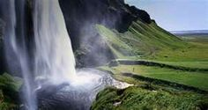 Seljalandsfoss, Waterfall Seljalandsfoss, south coast of Iceland