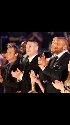 Chris Jericho, John Cena, and Triple H. Watch Wrestling, Wrestling Wwe, Wwe Costumes, Victorian Mens Fashion, Mick Foley, Jeff Hardy, Wwe Tna, Chris Jericho, Triple H