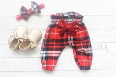 Christmas Leggings Baby Baby Girl Clothes Holiday by NylaMarieKids