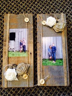Barn Wood picture frames in soft vintage rustic