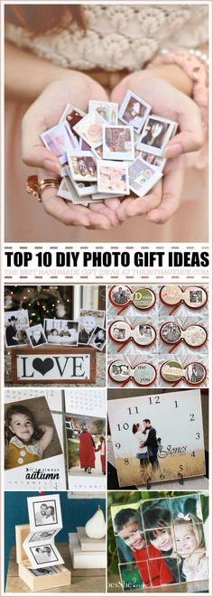 Top 10 Handmade Gifts using photos - These gifts ideas are perfect for Christmas gifts, birthday presents, Mother's Day Gifts and Anniversary Gifts... These handmade gift ideas are super easy to make, adorable, and affordable... MUST RE-PIN! by darcy