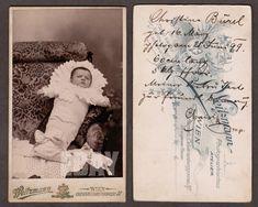 CDV Portrait Bébé Emmailloté AUTRICHE Wien 1899