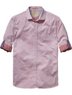 Herringbone Shirt |Shirt l/s|Men Clothing at Scotch & Soda