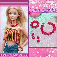 homemade barbie jewelry | barbie doll jewelry set barbie necklace and bracelet by sinogem