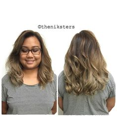 """""""She came in with jet black hair with previous blonde underneath i color corrected her hair and now shes a nice rich brown with ash end! You are so sweet,…"""""""