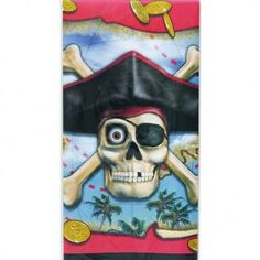 Pirate Bounty Plastic Tablecover - Children's Party Theme Ideas