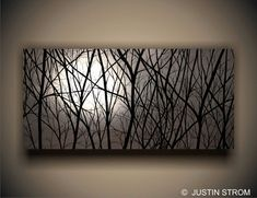 MoonlightLandscape Giclee Stretched and Ready to by PaintAddict, $199.99