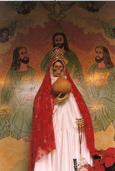 Morbid Anatomy: A Santa Muerte Statue in its Church of Mexico City