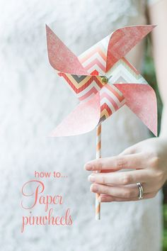 Paper Pinwheels, love this idea could make them into center pieces / table markers You can use these as diy paper pinwheels as bouquet alternatives for bridesmaids or flowergirls or give to guests as a colourful send-off from your ceremony. Pinwheel Craft, Pinwheel Tutorial, Origami, Succulent Wedding Favors, Alternative Bouquet, Diy Papier, Polka Dot Wedding, Paper Decorations, Pinwheel Decorations
