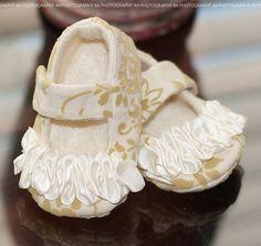"AK DESIGNS ""Elegant Baby Shoes"" - Little Violet. $25.00, via Etsy."