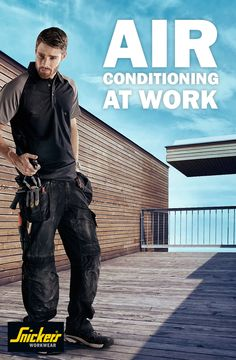 Working hard during summer can be challenging, but if you have the right #workwear you can be a lot more comfortable! Snickers Workwear gives you air conditioning at work with super #ventilating fabrics (like the A.V.S. shirt on the picture) and lightweight functionality. Try our rip-stop #trousers and see how you can keep working when it's hot. Follow this pin for more info on innovative fabrics that help you keep cool.