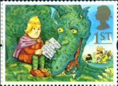The Ice Dragon and Noggin on a first class stamp http://nogginthenogblog.wordpress.com