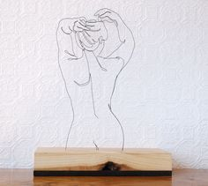 """Her Back"" wire sculpture"